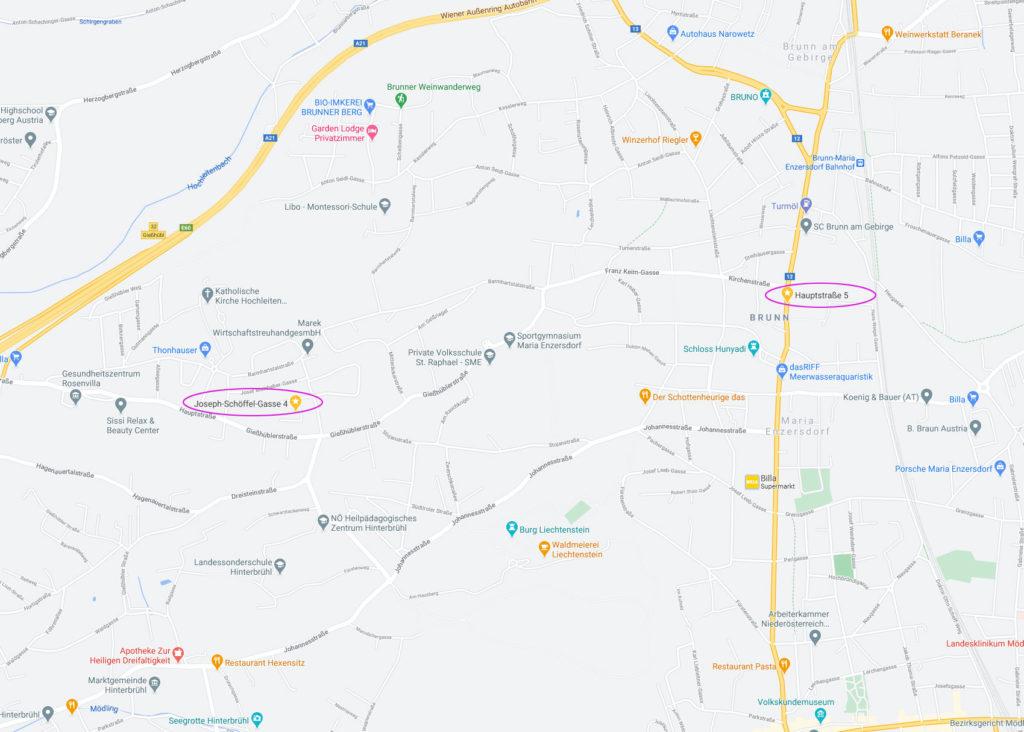 Lageplan von Maria Enzersdorf / Mödling